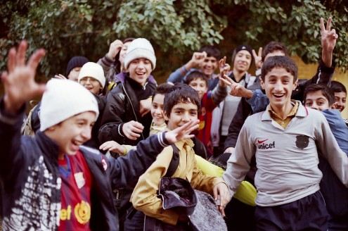 When I replied the school boys' english greeting in Persian, with a thick Esfahani accent, they went crazy – and each one of them wanted to have a picture taken.