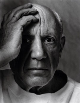 "© Arnold Newman, ""Pablo Picasso. Painter. Vallauris, France. 1954"""