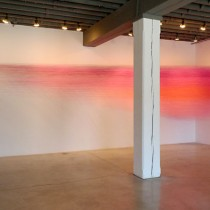 Anne Lindberg | drawn pink, 2012, installed in Placemakers at Bemis Center for Contemporary Arts