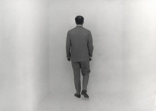 Yves Klein in the Void Room (Raum der Leere), Museum Haus Lange, Krefeld, January 1961. © ADAGP, Paris and DACS, London 2012. Image courtesy Yves Klein Archives. Photo: Charles Wilp