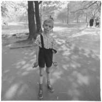 Child with a toy hand grenade in Central Park, N.Y.C., 1962 © The Estate of Diane Arbus