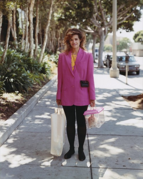 C/O Berlin © Joel Sternfeld: A Woman Out Shopping With Her Pet Rabbit, Santa Monica, California, August 1998