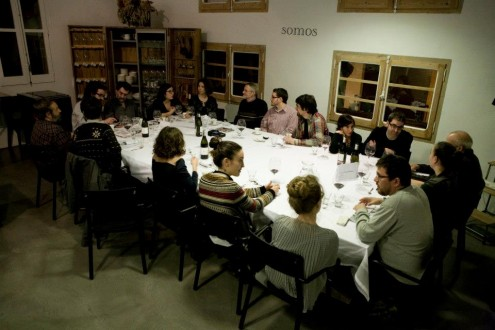 First Widephoto dinner-gathering (January 2013) with Cristina de Middel and Joan Fontcuberta
