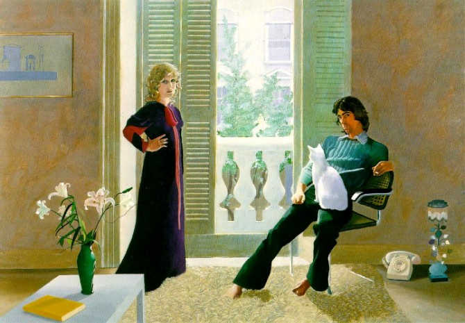 BOOK • FILM • PAINTING project, curated by Stuart Pilkington (Image © David Hockney - 'Mr and Mrs Clark and Percy')