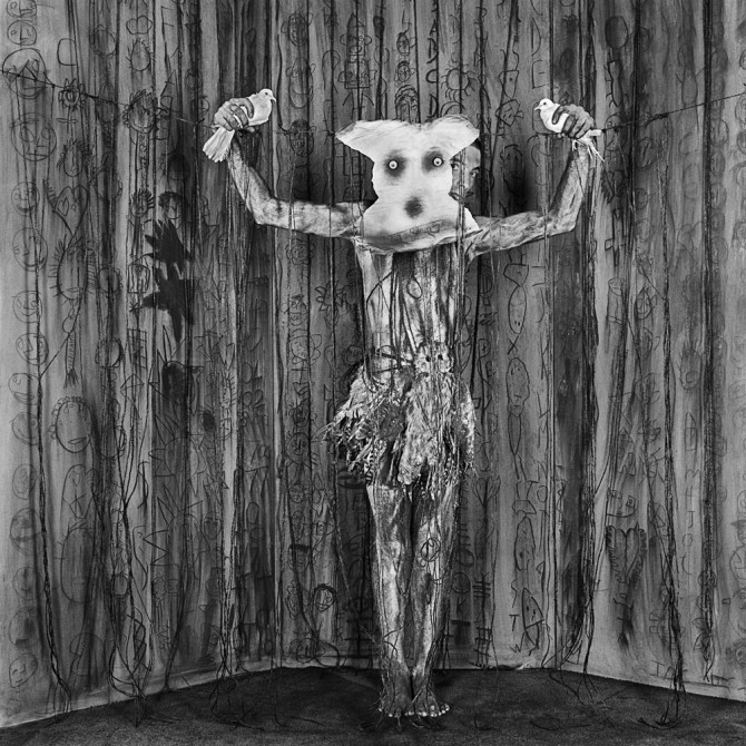 "© Roger Ballen, ""Alter Ego"", 2010, from his series ""Asylum"""