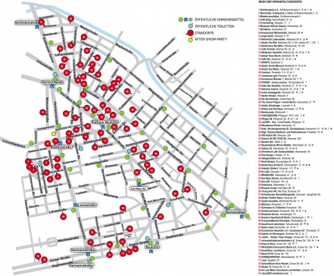 NACHTUNDNEBEL 2013 map/venues