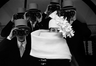 Frank Horvat - 1958, Paris, for Jardin des Modes, Givenchy hat (a)