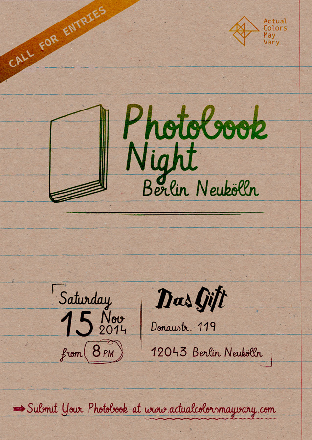 ACMV Photobook Night Berlin Neukölln at Das Gift
